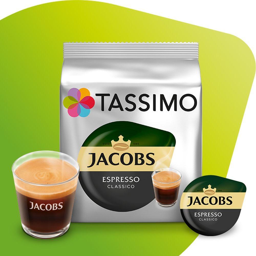 Kapsułki Tassimo Jacobs Espresso Classico ze szklanką oraz kapsułką