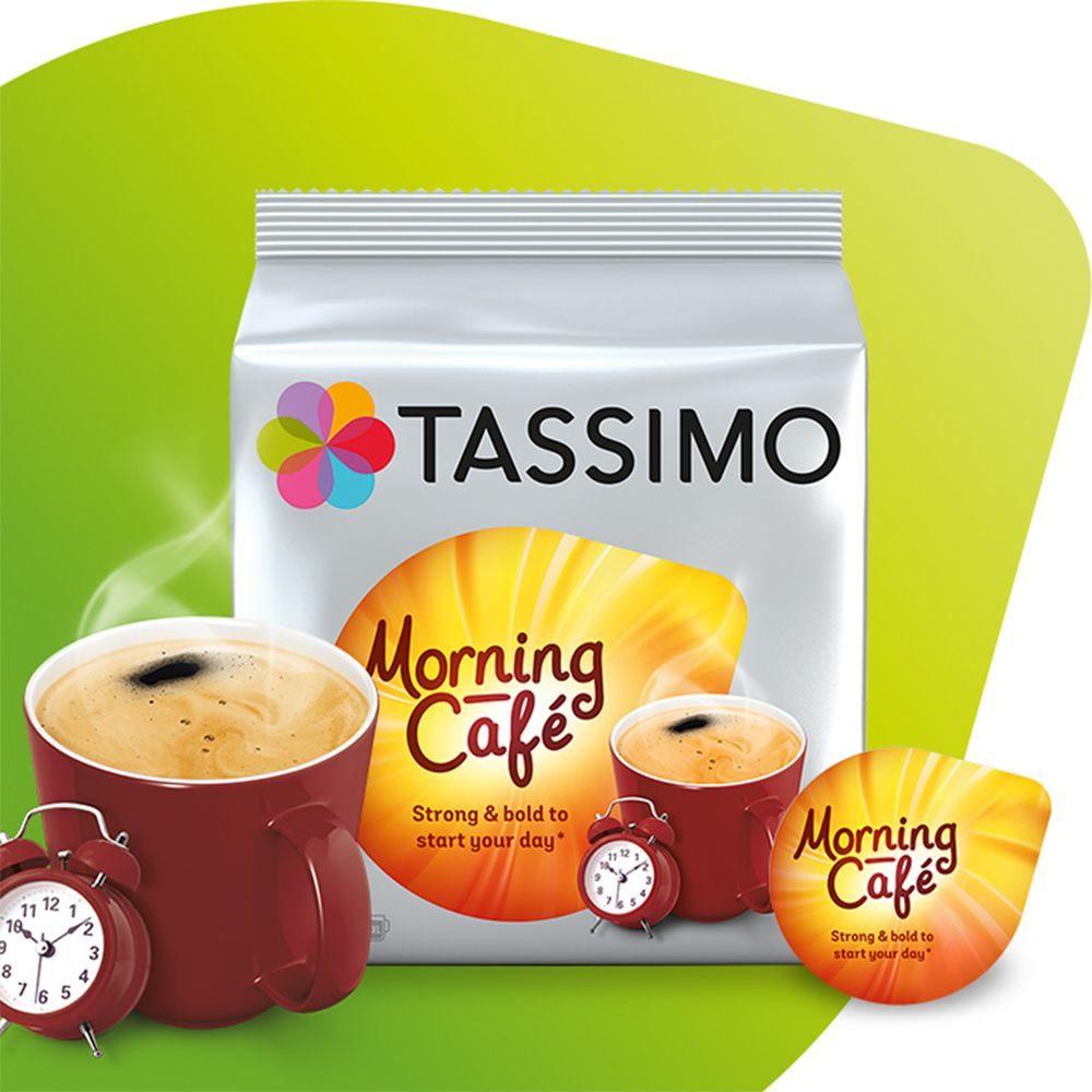 Opakowanie Tassimo Morning Kapsułka Tassimo Morning Tassimo Morning Café, kubek kawy, zegarek i kapsułka