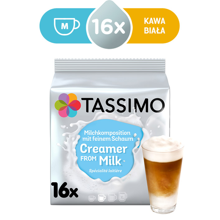Kapsułki mleczne Tassimo Creamer from milk 16 mleczek do kawy, rozmiar M
