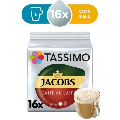 Kapsułki Tassimo Jacobs Café au lait 16 kaw białych, rozmiar L