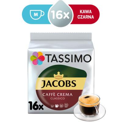 Kapsułki Tassimo Jacobs Caffé Crema Classico 16 kaw czarnych, rozmiar M