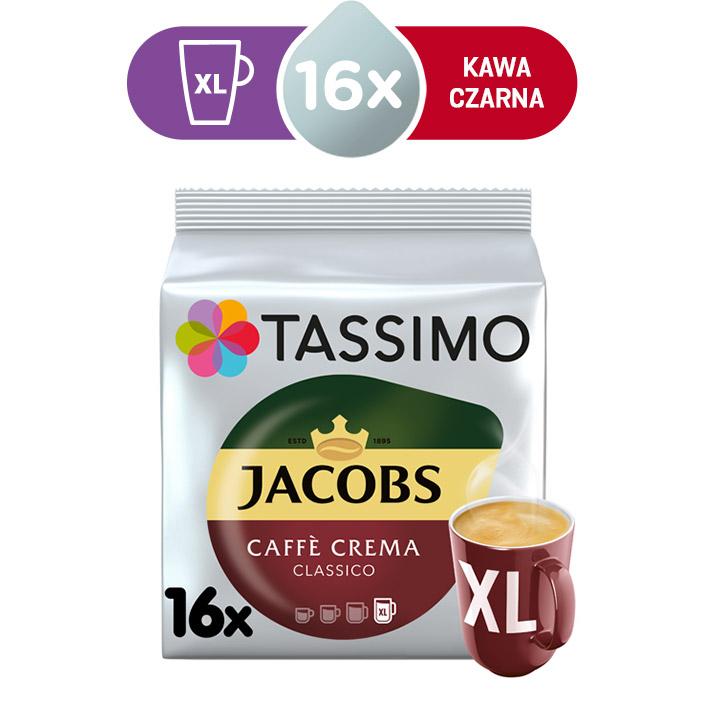 Kapsułki Tassimo Jacobs Caffé Crema Classico XL 16 kaw czarnych, rozmiar XL