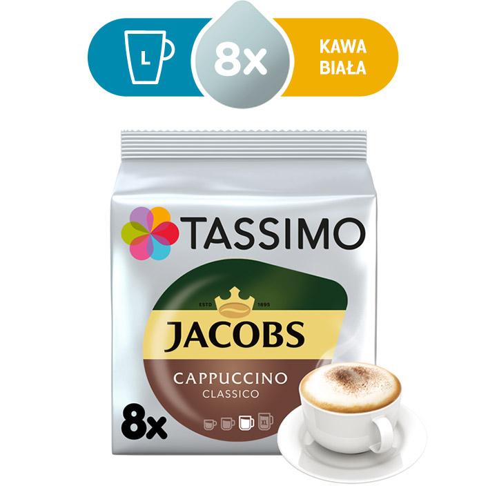 Kapsułki Tassimo Jacobs Cappucino Classico 8 kaw białych, rozmiar L