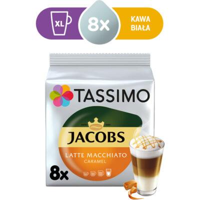 Kapsułki Tassimo Jacobs Latte Macchiato Caramel 8 kaw białych, rozmiar XL