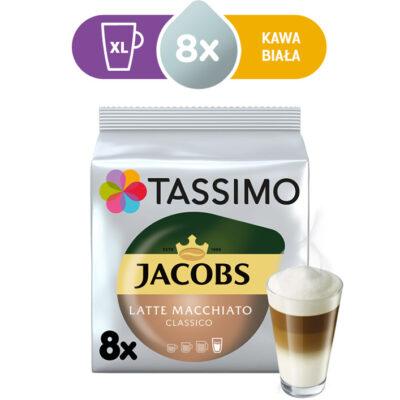 Kapsułki Tassimo Jacobs Latte Macchiato Classico 8 kaw białych, rozmiar XL