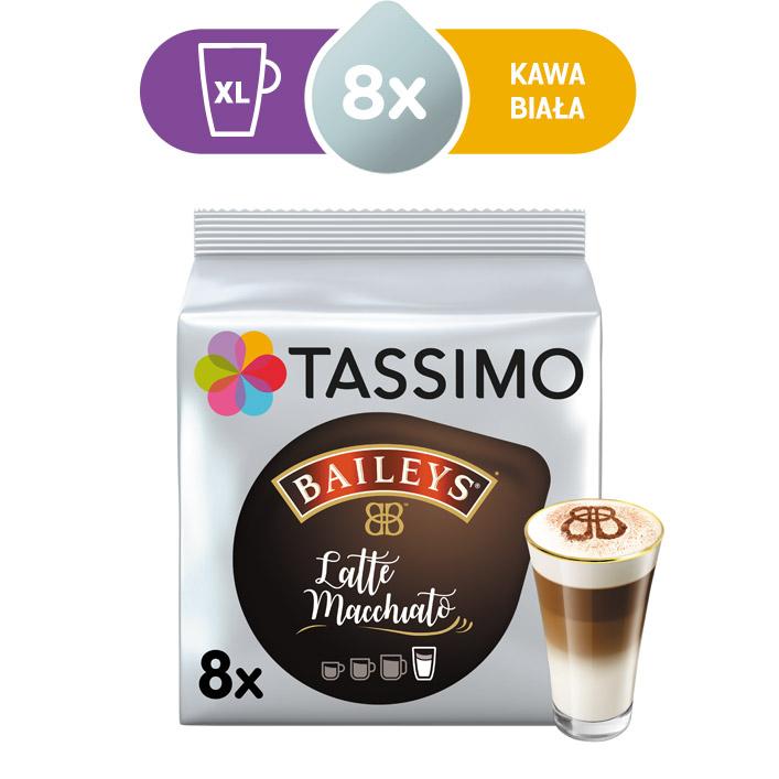 Kapsułki Tassimo Baileys Latte Macchiato 8 kaw białych, rozmiar XL