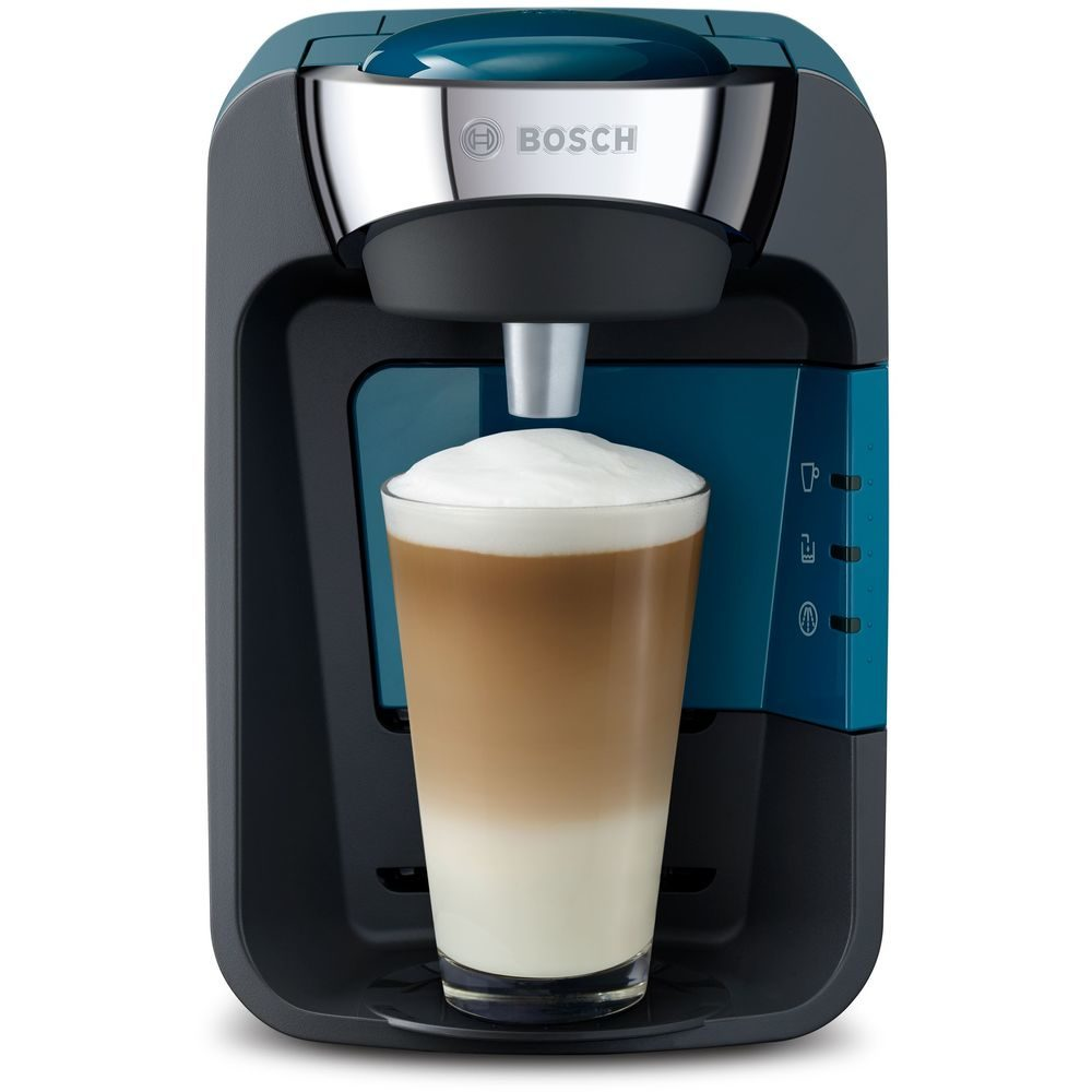 Ekspres suny niebieski z latte