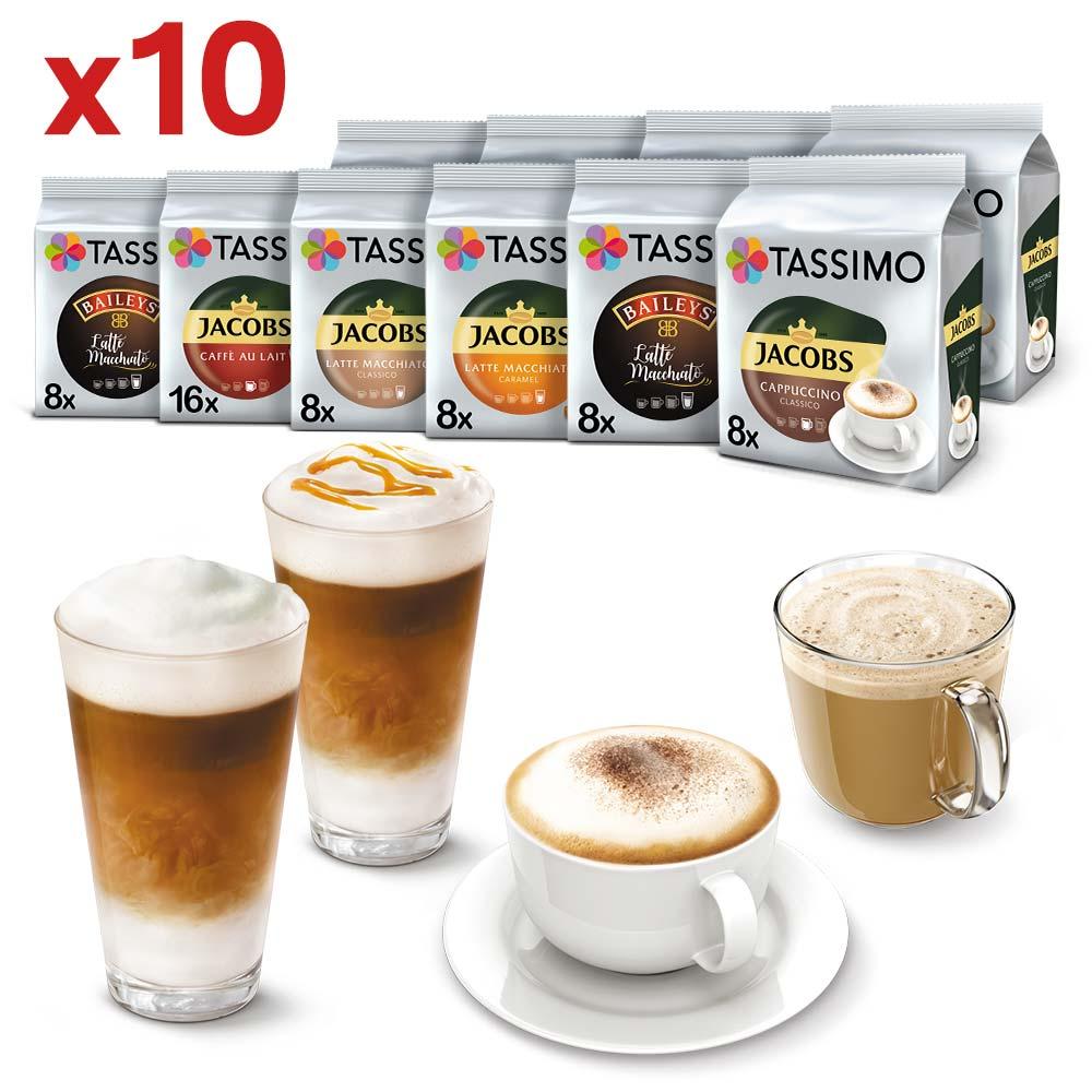 Tassimo zestaw kaw białych