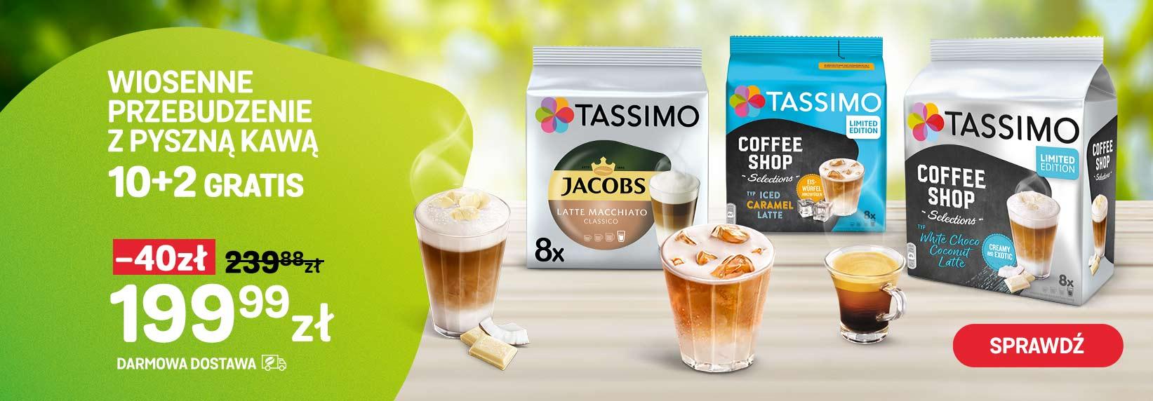 Promocja: 10 plus 2 opakowania kapsułek Tassimo gratis